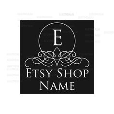 Shop Logo - Etsy Branding - Etsy Store Branding - Shop Icon - Etsy Shop Icon - Calligrapy Logo Style 2 by RhondaJai on Etsy