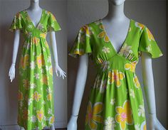 Vintage 70s Nalii Hawaiian Hippie Floral High by funquejunque, $25.00