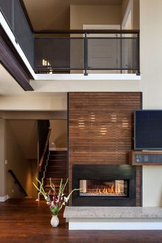 Love this fireplace.