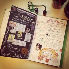 画像 : 【ほぼ日手帳】手帳を楽しむ使い方 まとめ 2014 - NAVER まとめ Journal Inspiration, Bujo Inspiration, Creative Journal, Pen And Paper, Scrapbooking, Smash Book, Journal Notebook, Paper Cards, Bookbinding