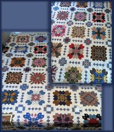 Inspiration! Jane Velander is well on her way to having a finished quilt! Don't you love the blue-gray setting fabric? I am wishing I had done that instead of my basic brownish color. Next one....