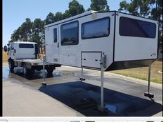 68 Ideas Flatbed Truck Ideas Trailers For 2019 Pop Up Truck Campers, Cargo Trailer Camper, Slide In Camper, Trailer Tent, Overland Truck, Overland Trailer, Expedition Vehicle, Adventure Trailers, Adventure Campers