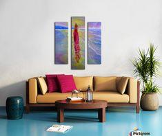 Diamond In Hand Art Split Canvas print Oil Painting Abstract, Abstract Canvas, Oil Paintings, Painting Canvas, Blue Canvas, Canvas Artwork, Canvas Art Prints, Triangle Art, Colourful Living Room