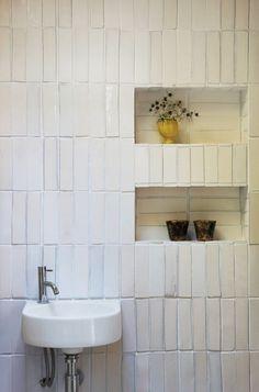 #bathroom #tile #white