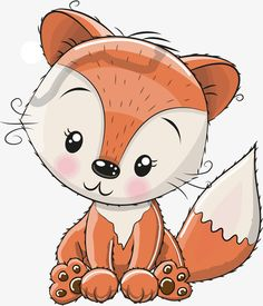 brown and white fox illustration, Fox Cartoon Cuteness Illustration, Hand painted red fox transparent background PNG clipart Cute Animal Drawings Kawaii, Cartoon Drawings, Easy Drawings, Kitten Drawing, Lion Illustration, Fox Girl, Cute Fox, Red Fox, Background S