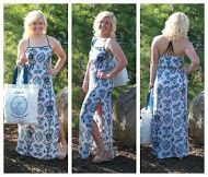 Black and blue maxi with Harvey's Seacyle bag! This outfit is perfect for a trip to the beach! Come get this whole outfit before its gone!