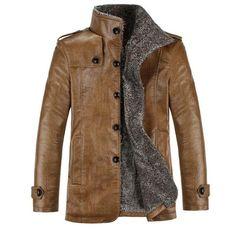 Winter Men Leather Jacket - Pulse Designer Fashion || Make a bespoke leather jacket like this