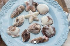 How to Make Candy Seashells - an easy-to-follow tutorial for making beautiful, edible, yummy seashells for a beach-themed shower or party!