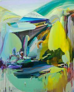 3.LEE Jin Han, 2010, West Sea Aquarium, 160x200 cm, Oil,acrylic, gouache, glitter and masking tape on canvas