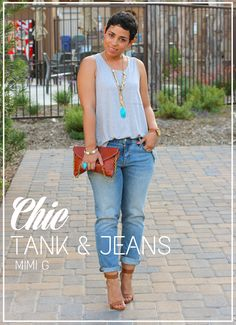 Super cute casual look!!  I have got to find some boyfriend jeans!!