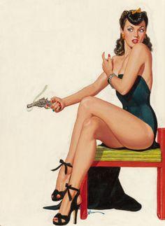 GEORGE GROSS Women in Crime 1948