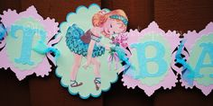 Vintage Ballerina Banner by MaluBoutiques on Etsy Vintage Ballerina, Tutu Party, Ballerina Birthday, Party Themes, Party Ideas, Different Colors, Banner, Ballerinas, Fairies