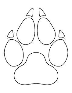 outline of a wolf Stencil Patterns, Applique Patterns, Beading Patterns, Print Patterns, Wolf Paw Print, Paw Print Art, Lobo Tribal, Wolf Craft, Cub Scouts Wolf