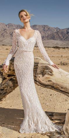 lian rokman 2017 bridal long sleeves sweetheart neckline full embellishment ellegant fit and flare wedding dress open back short train (onyx) mv