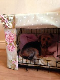 Dog crate cover by HouseofWagg on Etsy