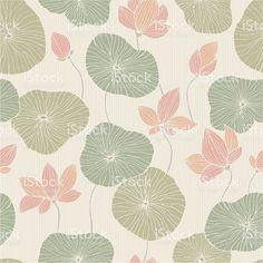 Abstract background with lilies and flowers royaltyfri vektorgrafik i bildbank
