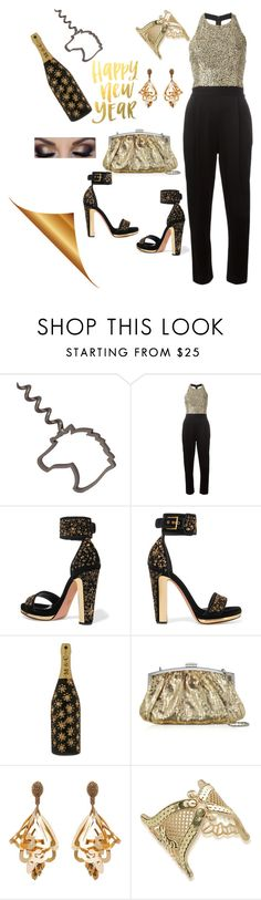 """""""New Years style"""" by andrea-zepeda-1 ❤ liked on Polyvore featuring Alice + Olivia, Alexander McQueen, Marc Jacobs, Julia Cocco', Oscar de la Renta and ABS by Allen Schwartz"""