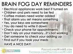 Checklist on those Brain fog days:  lol