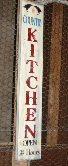 Weathered Country Kitchen Sign by CraftyDivaDIYCrafter on Etsy, $30.00