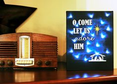 """Let Us Adore Him"" Canvas Wall Art"