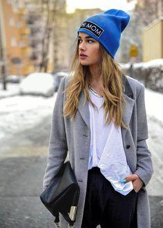 blue winer hat + grey coat http://www.wonderfulsnapbackswholesale.com/