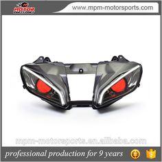 Red Demon Eye HID Projector LED Headlight Bulbs for Yamaha R6 Motorcycle