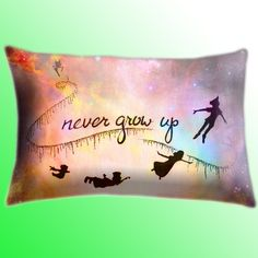 Disney New Peter Pan Quote Color Cover Pillow Size by LeaderPillow, $14.89