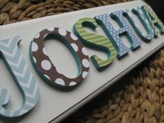 Myadornables Custom Art And Alphabet Shabby Chic Name Plaque 3 Is Now Www Serendipityhillstudio Nursery Pinterest Plaques