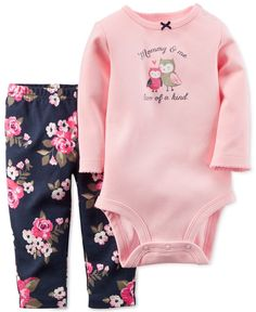 Carter's Baby Girls' 2-Piece Bodysuit & Pants Set - Baby Girl (0-24 months) - Kids & Baby - Macy's