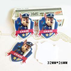 50pcs 32*26MM Cartoon Paw Patrol CHASE Flatback Resin Kawaii Dog Planar Resin DIY Crafts For Home Decoration Accessories DL-766