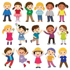 Multicultural children in different positions isolated on white background - Happy kids cartoon collection. Multicultural children in different positions isolated on white background Cartoon Cartoon, Happy Cartoon, Kids Vector, Free Vector Art, Drawing For Kids, Art For Kids, Kids Logo, Kids Hands, Super Happy