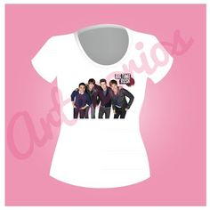 Original shirt from big time rush  the shirt is original we have it in pink and white, blue red, has a photo of big time rush, we have it in large, medium and small size, it costs $ 500.00