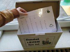 Gietjes Corner: Leeslijsten netjes opgeborgen in een toepasselijke doos