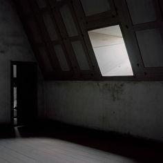 The Golden Boy, Attic Window, Dark Walls, Dark Interiors, Interior Photography, Room Lights, Photos, Pictures, Windows