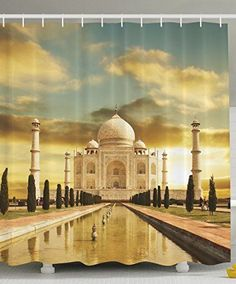 Taj Mahal Palace India Sunrise Beautiful Landscape Curtain