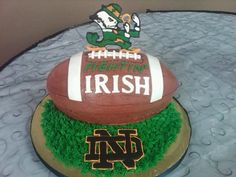 Notre Dame Football Groom's Cake By Woodle22 on CakeCentral.com