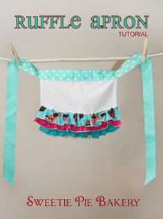 I got some questions about the apron my daughter wore in the Cookbook  photo shoot so I thought I'd share a quick tutorial with you.  The d...