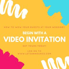 The big announcement with #Letsannounce #videoinvites #animatedinvites