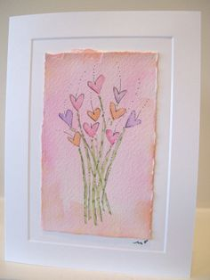 betrueoriginals Valentines Watercolor, Watercolor Birthday Cards, Watercolor And Ink, Watercolor Flowers, Watercolor Paintings, Watercolors, Paint Cards, Happy Paintings, Diy Cards