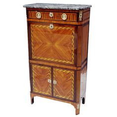 """French Louis XVI Secretaire Signed by """"Jean-Baptiste VASSOU"""" 