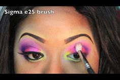 Nitraab's eye makeup  Check her out on YouTube at (nitraab) Bright bold summer makeup <3  Follow me ill follow back :)