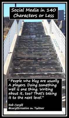 People who blog are usually A players. Doing something well is one thing. Writing about it, too? That's taking it to the next level.