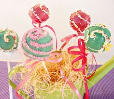 Sugar flowers Creations: Cake pops Για το παιδικό πάρτυ