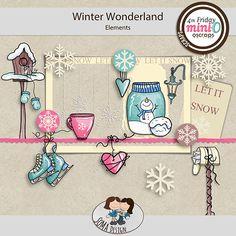 Oscraps.com :: Shop by Category :: All New :: SoMa Design: Winter Wonderland - MiniO - Minikit Winter Wonderland, Mini, Shop, Design, Design Comics, Store