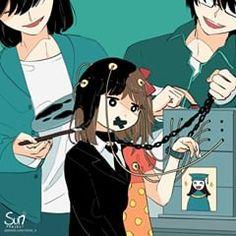 Illustration Meaning, Art Et Illustration, Fan Anime, I Love Anime, Sun Projects, Manga, Depression Art, Arte Obscura, Deep Art