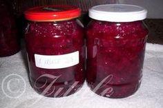 Červená řepa s křenem   jitulciny-recepty.cz Thing 1, Vegetable Recipes, Preserves, Kimchi, Detox, Salsa, Food And Drink, Jar, Homemade