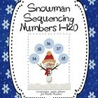 Freebie! This is a game that can be used in small group or centers. Students randomly grab 5 snowballs with numbers on them.  They must put them in order fr...