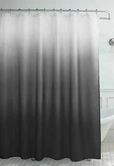 Creative Home Ideas Ombre Waffle Weave Shower Curtain with 12 Color Coordinated Metal Roller Rings, Dark Grey, http://www.amazon.com/dp/B00N1QVQI0/ref=cm_sw_r_pi_awdm_sySRwb1WCH35P