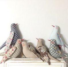 deko ideen osterdeko nähen osterhennen basteln - hallowen You are in the right place abo Fabric Toys, Fabric Art, Fabric Crafts, Sewing Toys, Sewing Crafts, Sewing Projects, Fabric Animals, Fabric Birds, Bird Patterns
