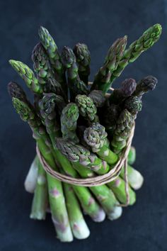 Bunch of fresh, green asparagus. by Karolina Awizen